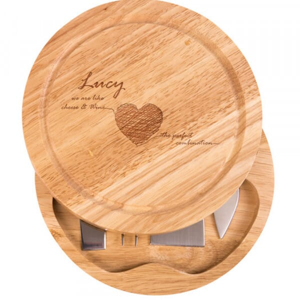 Personalised Cheese Board - Cheese and wine
