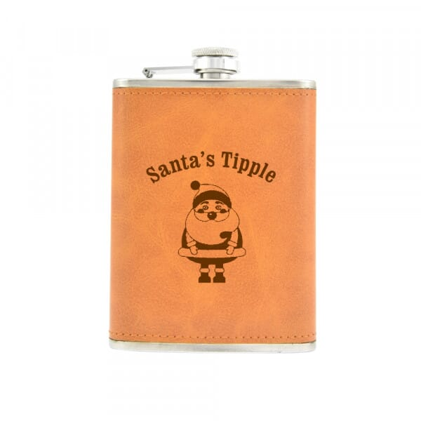 Personalised Hip Flask - Santa's Tipple