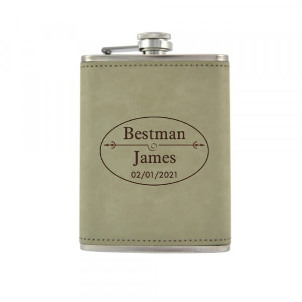 Personalised Hip Flask - Wedding Thank You