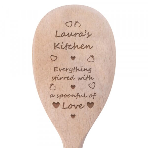 Personalised Wooden Spoon - Stirred With Love