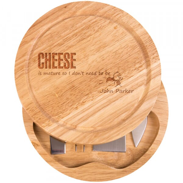 Personalised Cheese Board - Cheese is mature