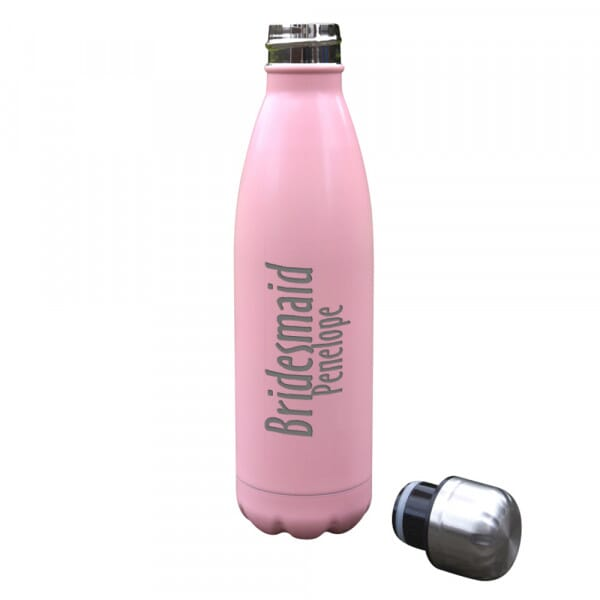 Personalised 'Bridesmaid' Insulated Water Bottle - 500ml