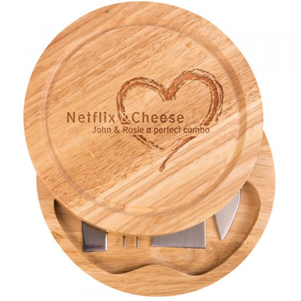 Personalised Cheese Board - Netflix and cheese