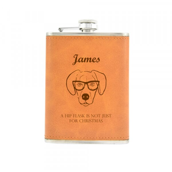 Personalised Hip Flask - Not Just For Christmas