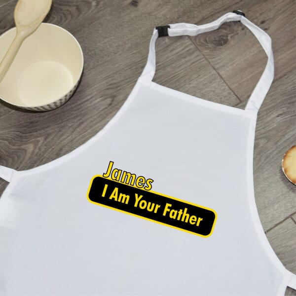 Personalised Sublimated Apron - I Am Your Father