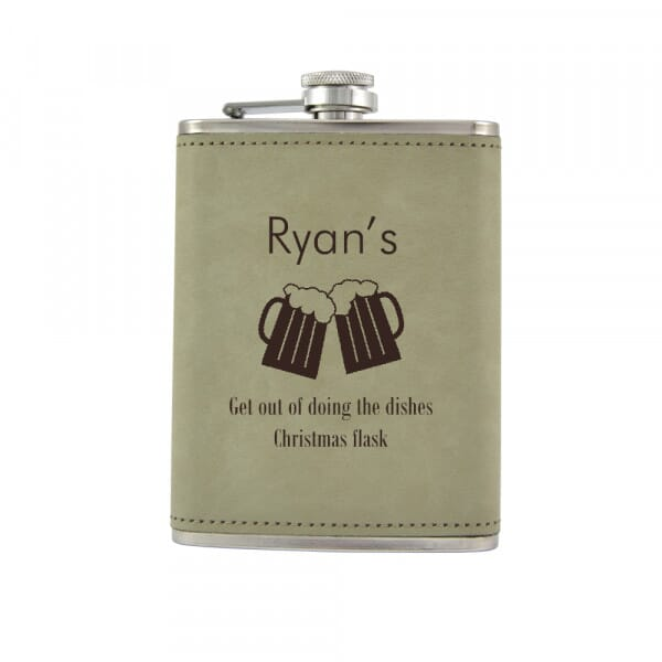 Personalised Hip Flask - Christmas Flask