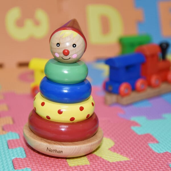 Personalised Wooden Stacking Clown