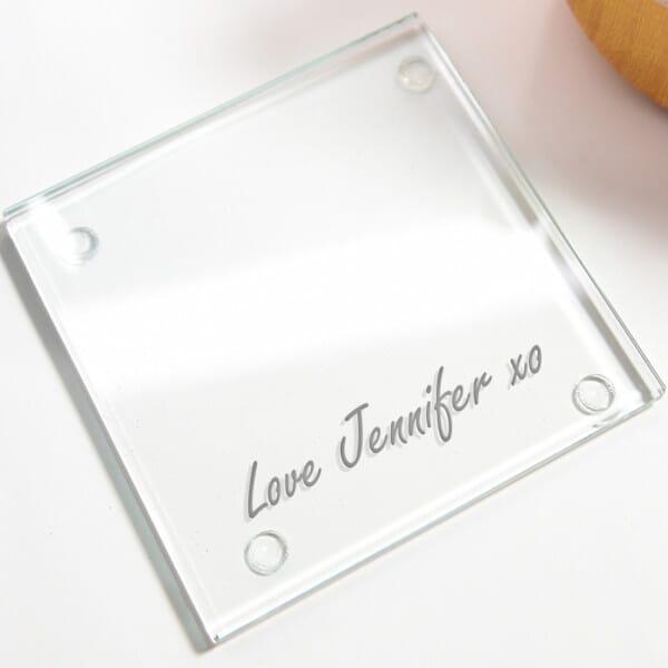 Personalised Boss Mum Glass Coasters - 4 Pack