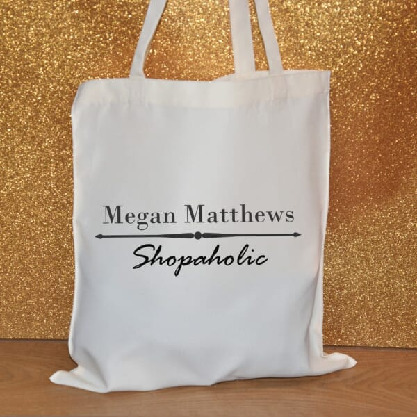 Personalised Tote Bag - Shopoholic