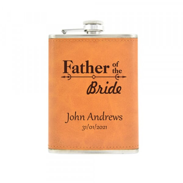 Personalised Hip Flask - Father Of The Bride