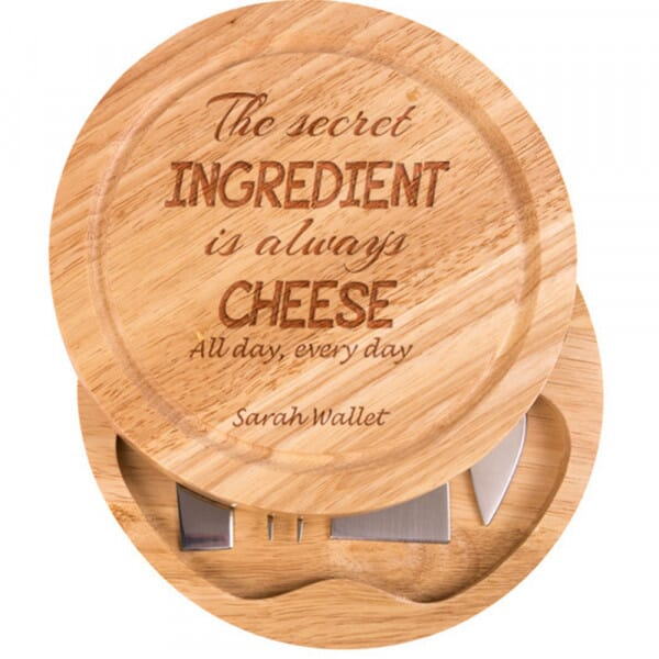 Personalised Cheese Board - The secret ingredient