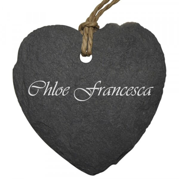 Personalised Small Slate Place Setting