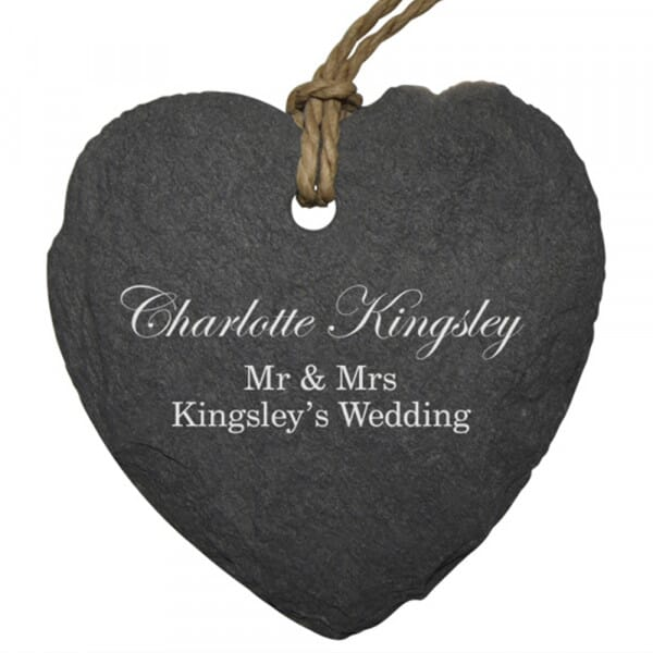 Personalised Mr & Mrs Small Slate Place Setting