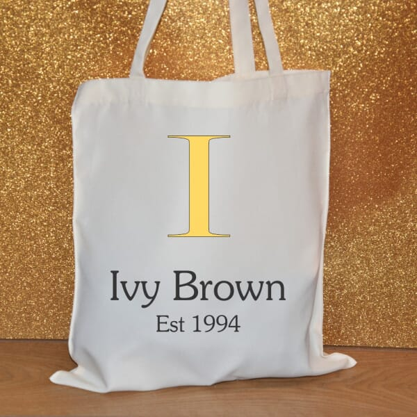 Personalised Tote Bag - Name and Date