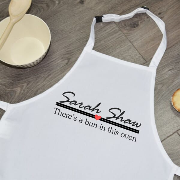 Personalised Sublimated Apron - Bun In The Oven