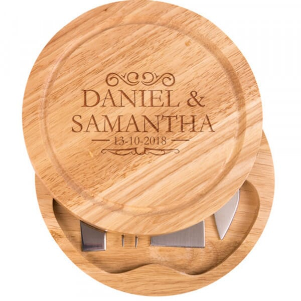 Personalised Cheese Board - The happy couple