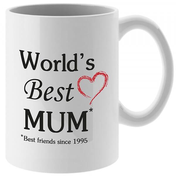 Personalised World's Best Mum Mug and Coaster Set