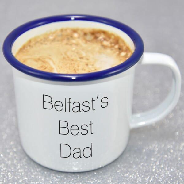 Personalised Best Dad Enamel Mug