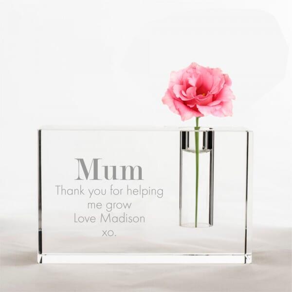 Personalised Thank You Mum Vase