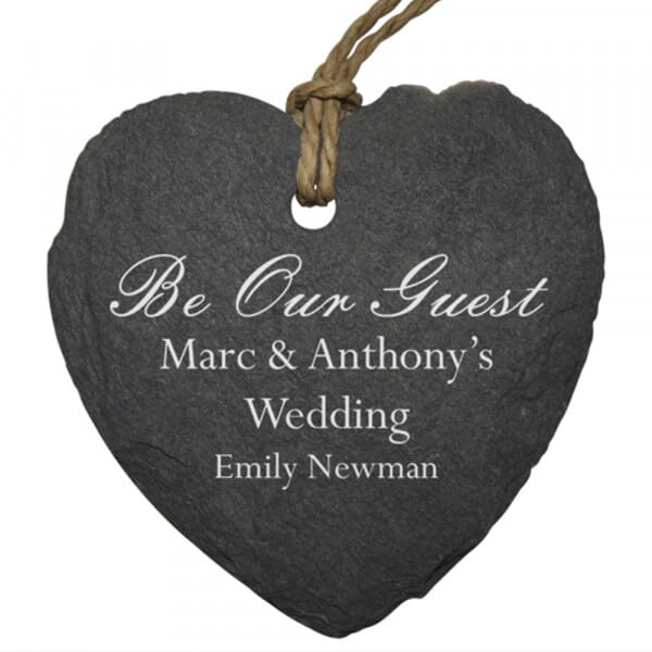 Personalised Be Our Guest Small Slate Place Setting