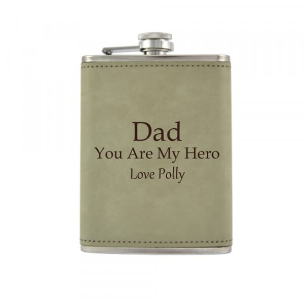 Personalised Hip Flask - You Are My Hero