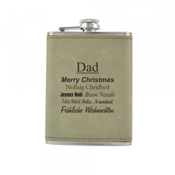 Personalised Hip Flask - Happy Christmas
