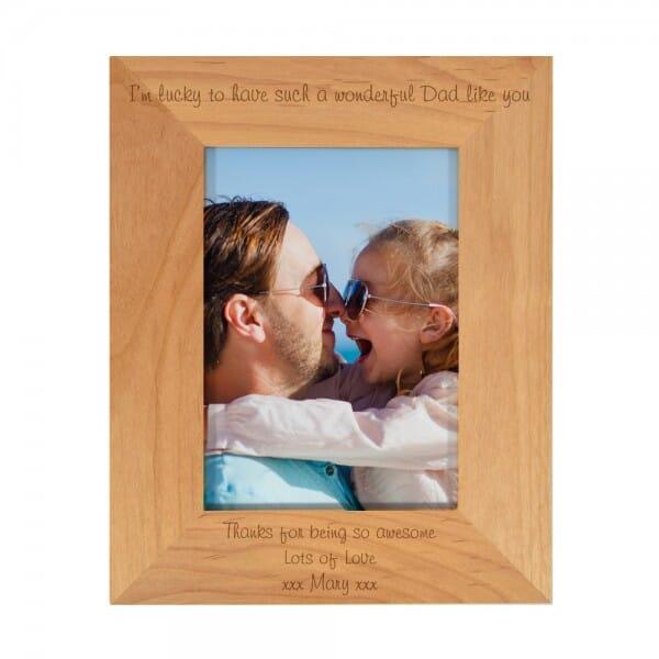 Personalised Wonderful Dad Photo Frame