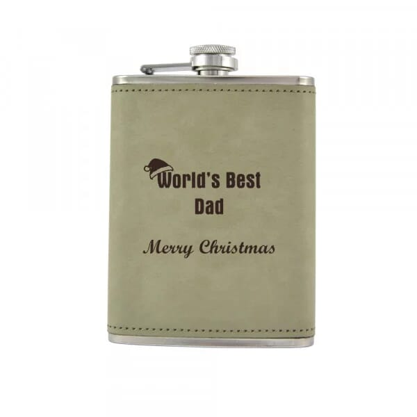 Personalised Hip Flask - World's Best Dad