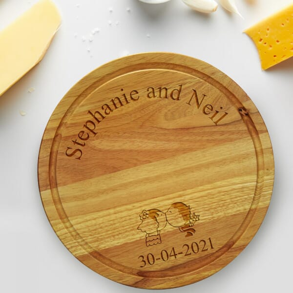Personalised Chopping board - Wedding Kissing Couple