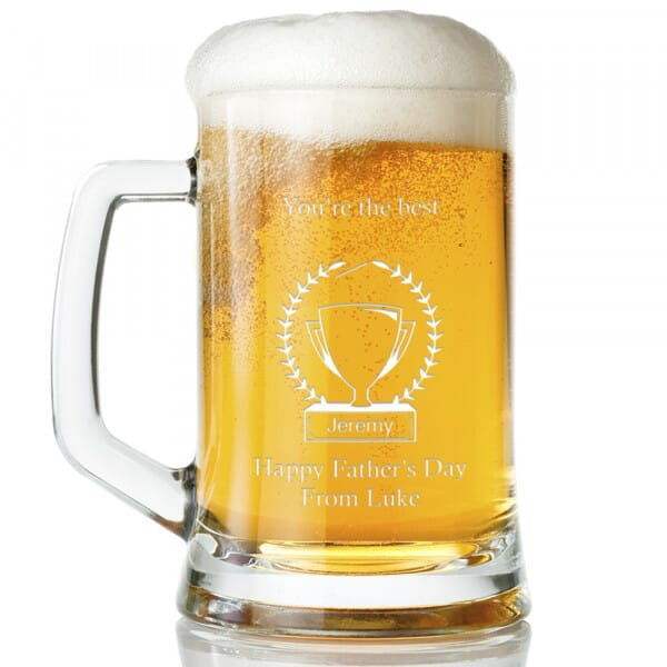 Personalised Happy Father's Day Glass Tankard