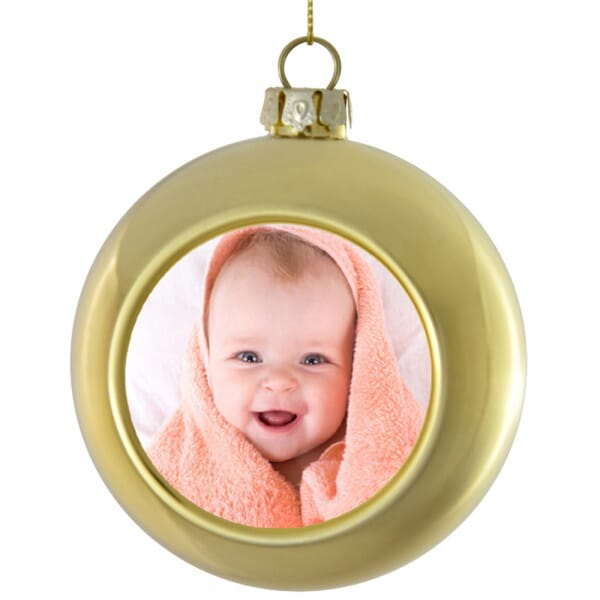 Personalised Christmas Bauble - Baby Photo