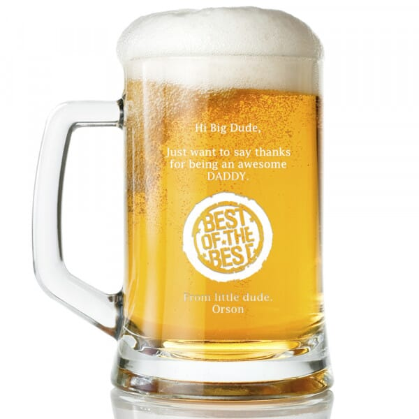 Personalised Awesome Daddy Glass Tankard