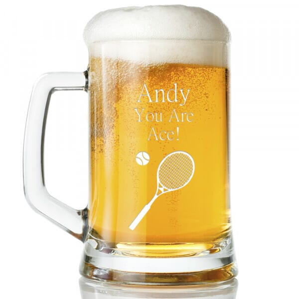 Personalised You Are Ace Glass Tankard