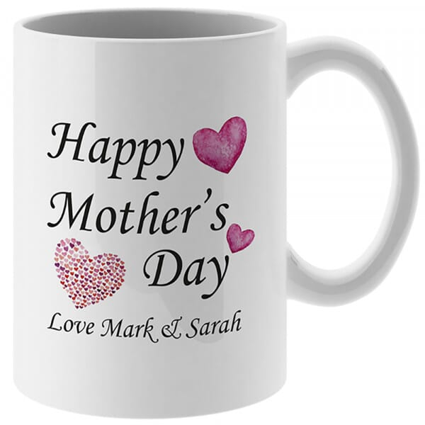 Personalised Happy Mother's Day Mug and Coaster Set