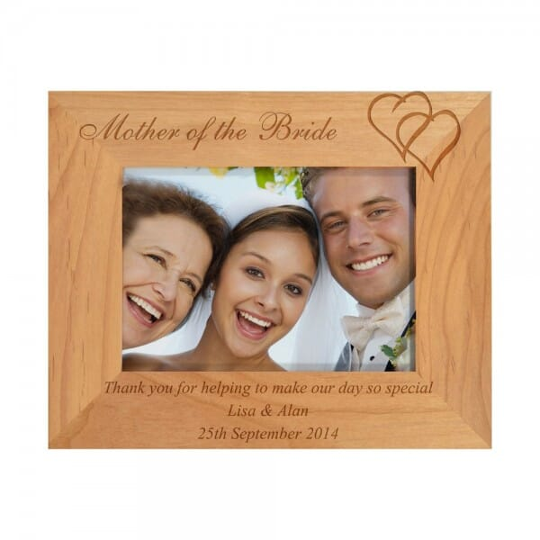 Personalised Mother Of The Bride Wooden Photo Frame Urbanfoxgiftscom