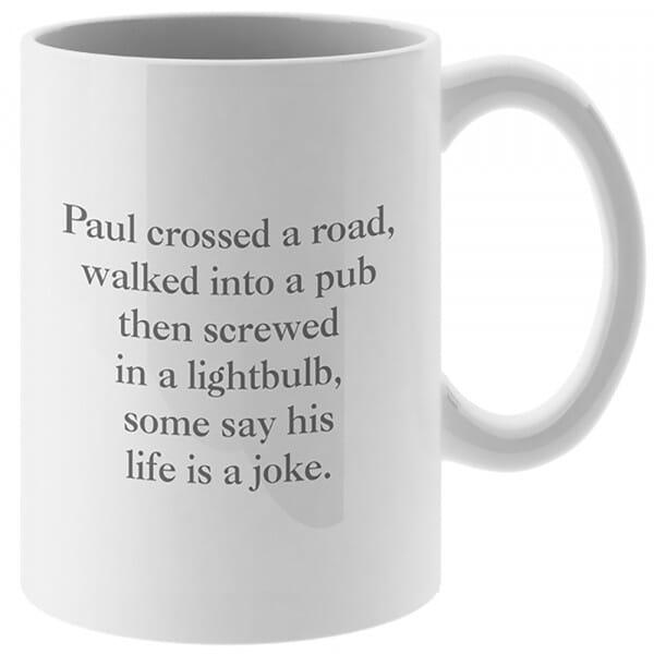 Personalised Life's A Joke Mug and Coaster Set
