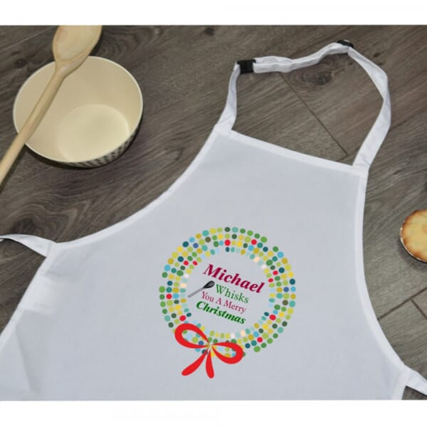 Personalised Sublimated Apron - Merry Christmas