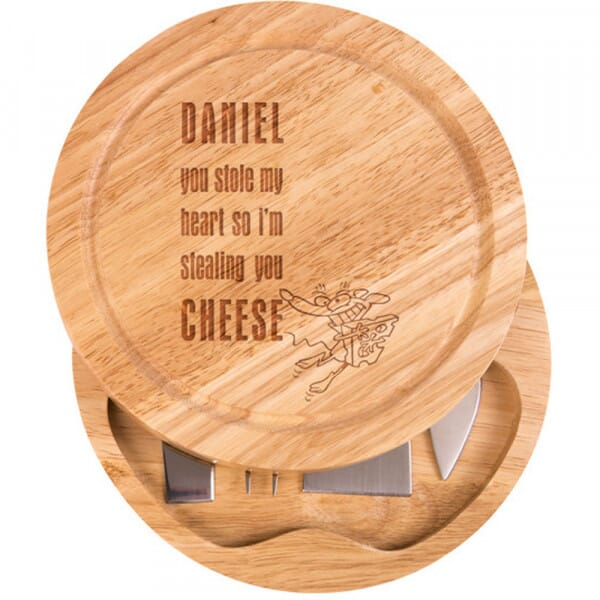 Personalised Cheese Board - You stole my heart