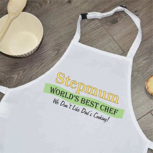 Sublimated Apron - Stepmum World's Best Chef
