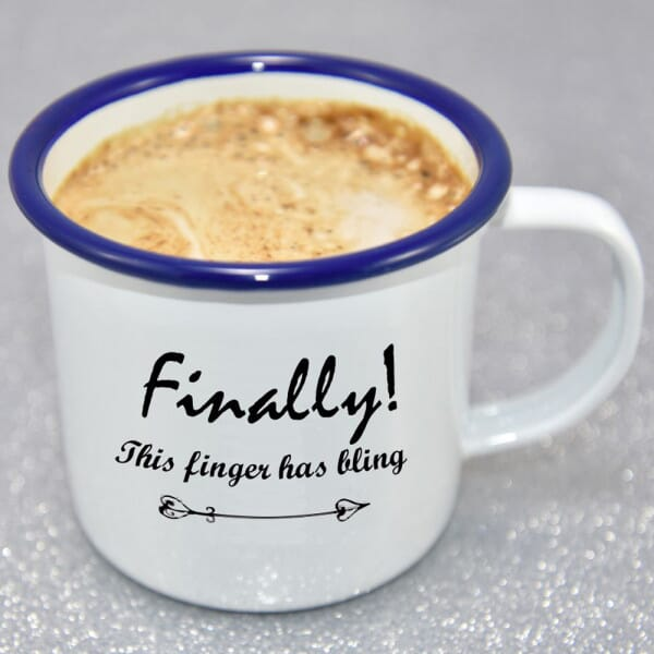 Finally Engaged Enamel Mug