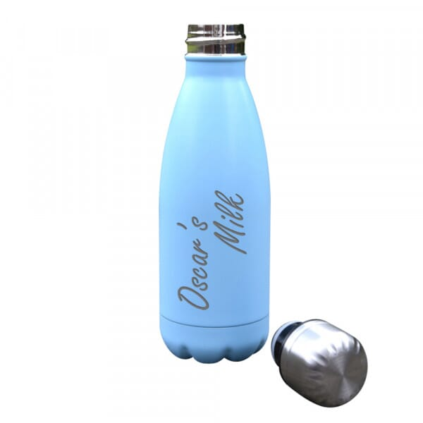 Personalised 'Milk' Insulated Water Bottle - 350ml