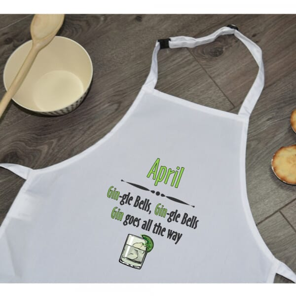 Personalised Sublimated Apron - Christmas Gin-gle Bells