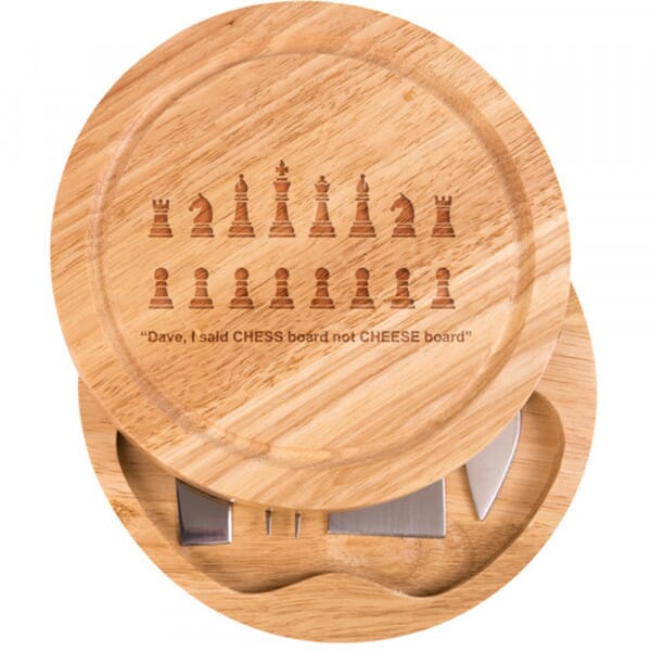 Personalised Cheese Board - I said chess board