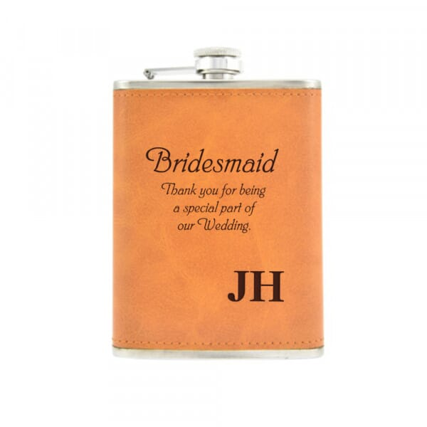 Personalised Hip Flask - Wedding Name & Initials