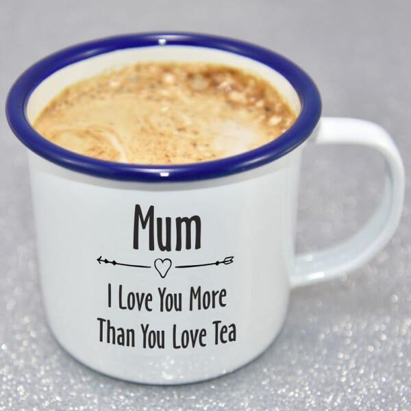 Personalised I Love You More Than Enamel Mug