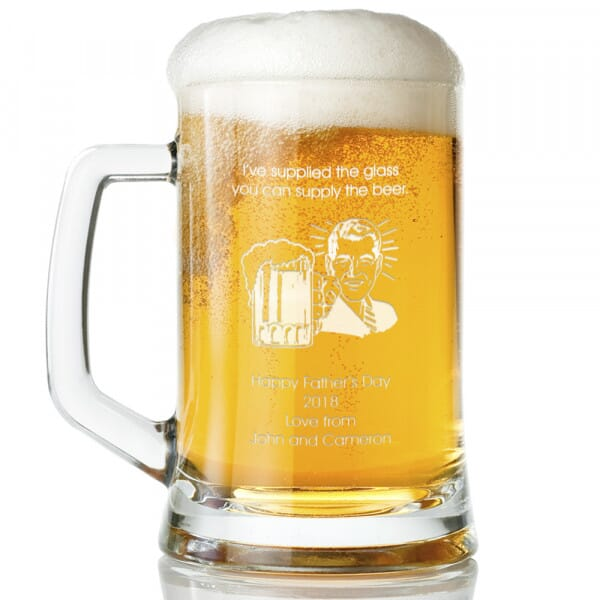 Personalised Beer Supply Glass Tankard