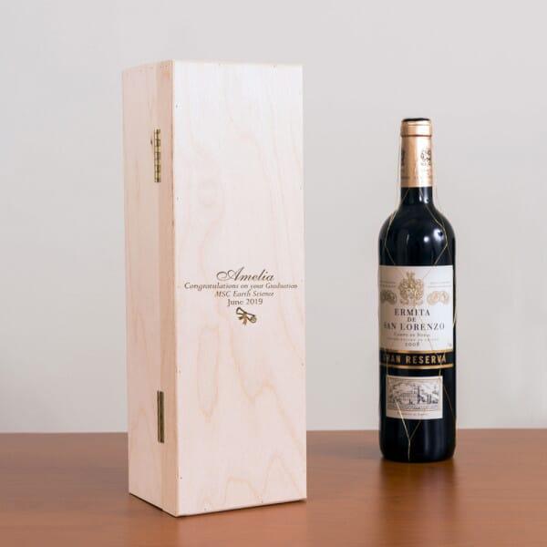 Personalised Graduation Wine Box