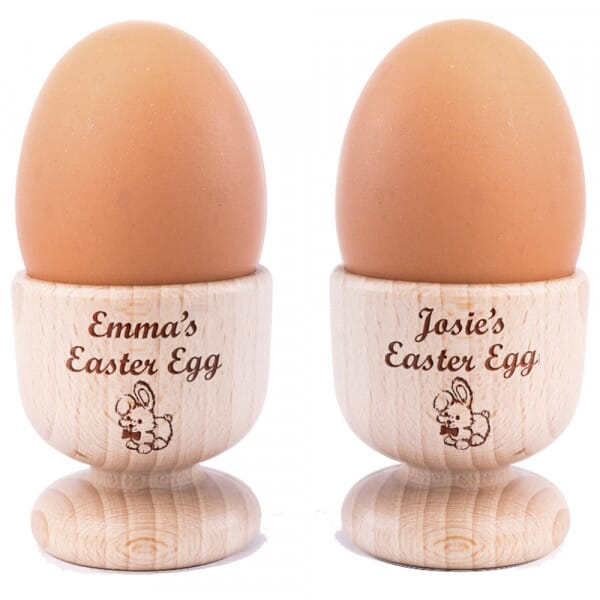 Personalised Easter Wooden Egg Cups