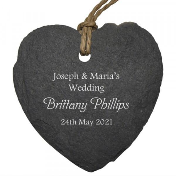 Personalised Wedding Small Slate Place Setting