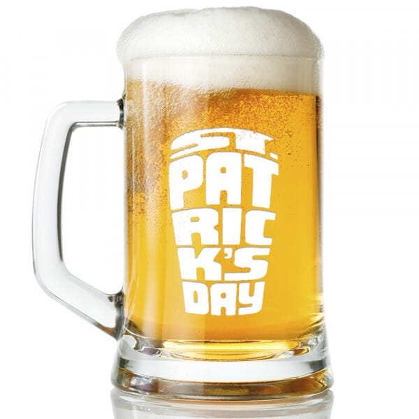 St Patrick's Day Glass Tankard